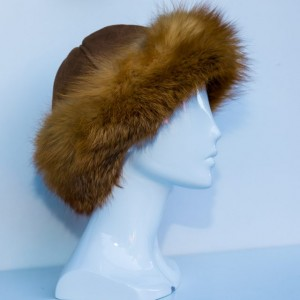 Brim Hat with Fox Trim